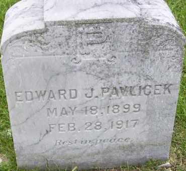 PAVLICEK, EDWARD J - Jefferson County, Kansas   EDWARD J PAVLICEK - Kansas Gravestone Photos