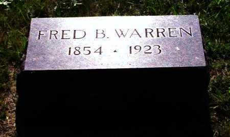 "WARREN, FREDRICK B ""FRED"" - Jewell County, Kansas | FREDRICK B ""FRED"" WARREN - Kansas Gravestone Photos"