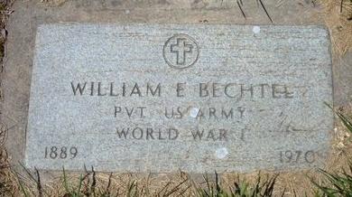 BECHTEL, WILLIAM ED   (VETERAN WWI) - Kearny County, Kansas | WILLIAM ED   (VETERAN WWI) BECHTEL - Kansas Gravestone Photos