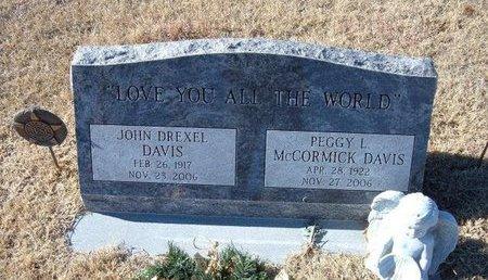 DAVIS, JOHN DREXEL (VETERAN WWII) - Kearny County, Kansas | JOHN DREXEL (VETERAN WWII) DAVIS - Kansas Gravestone Photos