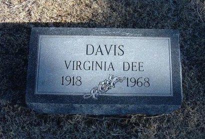 DAVIS, VIRGINIA DEE - Kearny County, Kansas | VIRGINIA DEE DAVIS - Kansas Gravestone Photos