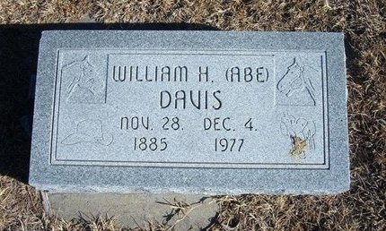"DAVIS, WILLIAM H ""ABE"" - Kearny County, Kansas | WILLIAM H ""ABE"" DAVIS - Kansas Gravestone Photos"