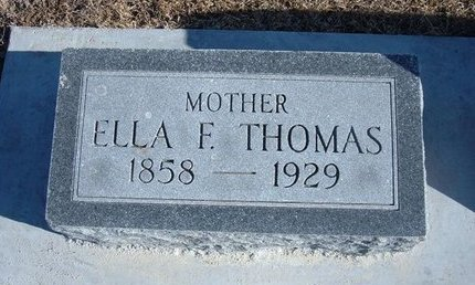 THOMAS, ELLA F - Kearny County, Kansas | ELLA F THOMAS - Kansas Gravestone Photos