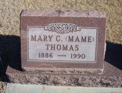 "THOMAS, MARY C ""MAME"" - Kearny County, Kansas 