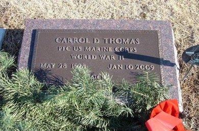 THOMAS, CARROL D (VETERAN WWII) - Kearny County, Kansas | CARROL D (VETERAN WWII) THOMAS - Kansas Gravestone Photos