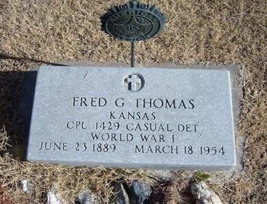 THOMAS, FRED G  (VETERAN WWI) - Kearny County, Kansas | FRED G  (VETERAN WWI) THOMAS - Kansas Gravestone Photos