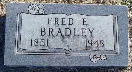 BRADLEY, FRED E - Labette County, Kansas | FRED E BRADLEY - Kansas Gravestone Photos