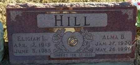 HILL, ALMA BERNADINE - Labette County, Kansas | ALMA BERNADINE HILL - Kansas Gravestone Photos