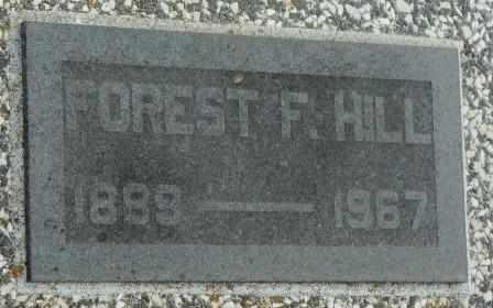 HILL, FORREST F - Labette County, Kansas | FORREST F HILL - Kansas Gravestone Photos