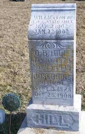 HILL, O B - Labette County, Kansas | O B HILL - Kansas Gravestone Photos