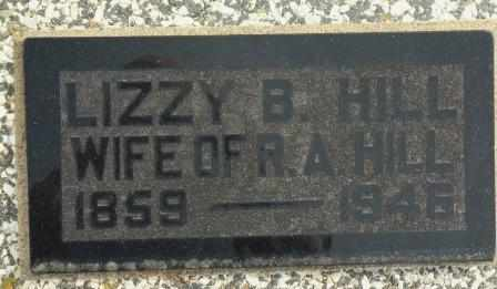 "HILL, SARAH M ""LIZZIE"" - Labette County, Kansas | SARAH M ""LIZZIE"" HILL - Kansas Gravestone Photos"