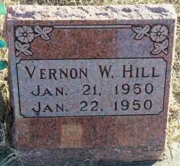 HILL, VERNON W - Labette County, Kansas | VERNON W HILL - Kansas Gravestone Photos