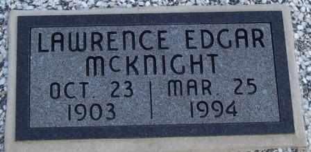 MCKNIGHT, LAWRENCE EDGAR - Labette County, Kansas | LAWRENCE EDGAR MCKNIGHT - Kansas Gravestone Photos