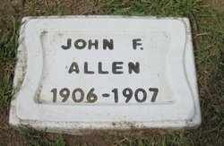 ALLEN, JOHN F - Leavenworth County, Kansas | JOHN F ALLEN - Kansas Gravestone Photos