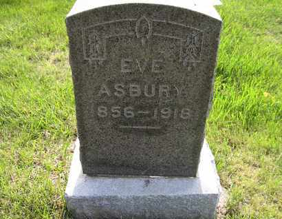 ASBURY, EVE ALICE - Leavenworth County, Kansas | EVE ALICE ASBURY - Kansas Gravestone Photos