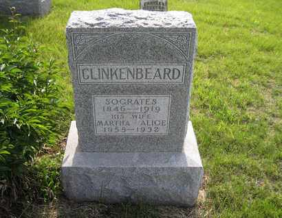 "CLINKENBEARD, MARTHA ALICE ""MARY"" - Leavenworth County, Kansas | MARTHA ALICE ""MARY"" CLINKENBEARD - Kansas Gravestone Photos"