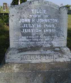 "LANGLEY JOHNSTON, SARA MATILDA ""TILLIE"" - Leavenworth County, Kansas 