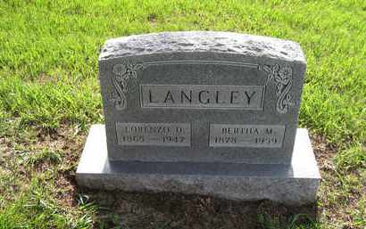 LANGLEY, LORENZO DOW - Leavenworth County, Kansas | LORENZO DOW LANGLEY - Kansas Gravestone Photos