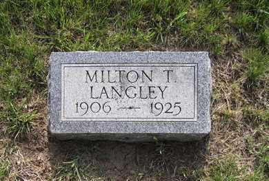 LANGLEY, MILTON T. - Leavenworth County, Kansas | MILTON T. LANGLEY - Kansas Gravestone Photos