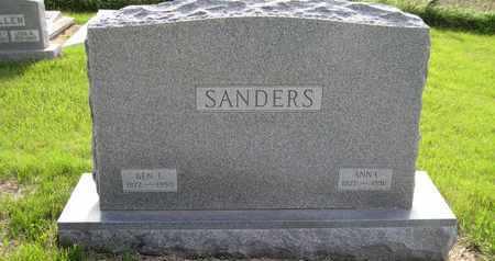 "WILBURN SANDERS, MALINDA ANN ""ANNA"" - Leavenworth County, Kansas | MALINDA ANN ""ANNA"" WILBURN SANDERS - Kansas Gravestone Photos"