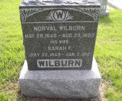 MCMAHAN WILBURN, SARAH FRANCES - Leavenworth County, Kansas | SARAH FRANCES MCMAHAN WILBURN - Kansas Gravestone Photos