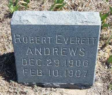 ANDREWS, ROBERT EVERETT - Logan County, Kansas | ROBERT EVERETT ANDREWS - Kansas Gravestone Photos