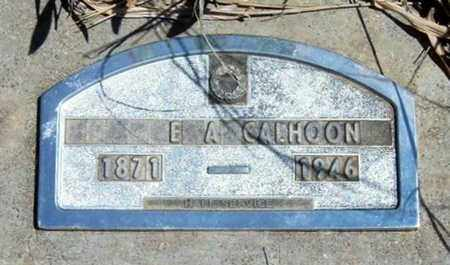 CALHOON, E A - Logan County, Kansas   E A CALHOON - Kansas Gravestone Photos