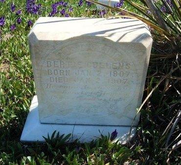 CULLENS, BERTIE - Logan County, Kansas | BERTIE CULLENS - Kansas Gravestone Photos