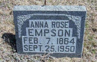 EMPSON, ANNA ROSE - Logan County, Kansas | ANNA ROSE EMPSON - Kansas Gravestone Photos