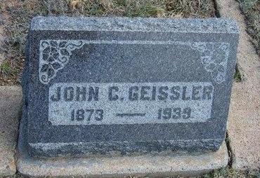 GEISSLER, JOHN C - Logan County, Kansas | JOHN C GEISSLER - Kansas Gravestone Photos