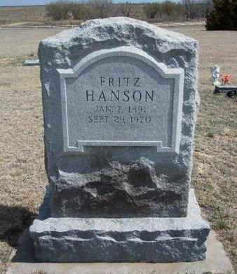 HANSON, FRITZ - Logan County, Kansas | FRITZ HANSON - Kansas Gravestone Photos
