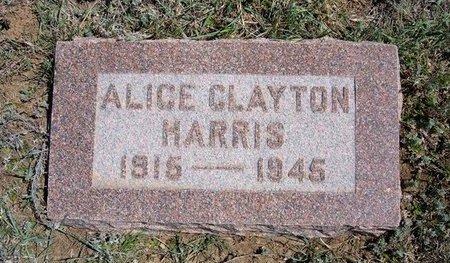 HARRIS, ALICE CLAYTON - Logan County, Kansas | ALICE CLAYTON HARRIS - Kansas Gravestone Photos