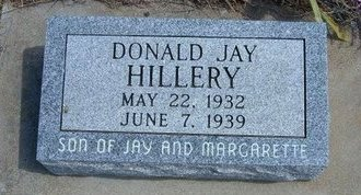 HILLERY, DONALD JAY - Logan County, Kansas | DONALD JAY HILLERY - Kansas Gravestone Photos