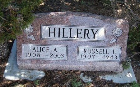 HILLERY, ALICE A - Logan County, Kansas | ALICE A HILLERY - Kansas Gravestone Photos