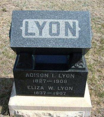 LYON, ADISON ! - Logan County, Kansas | ADISON ! LYON - Kansas Gravestone Photos