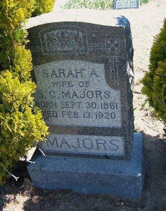 MAJORS, SARAH A - Logan County, Kansas   SARAH A MAJORS - Kansas Gravestone Photos