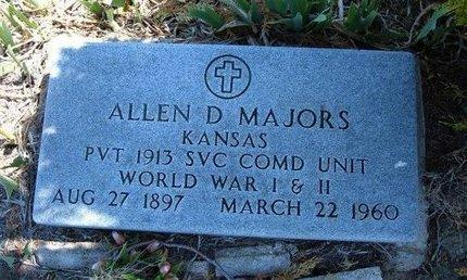MAJORS (, ALLEN D  VETERAN 2WARS) - Logan County, Kansas | ALLEN D  VETERAN 2WARS) MAJORS ( - Kansas Gravestone Photos