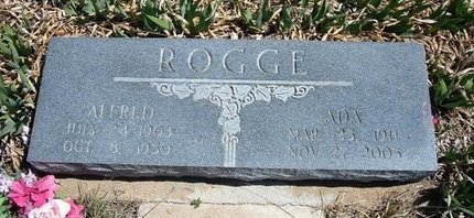 ROGGE, ALFRED - Logan County, Kansas | ALFRED ROGGE - Kansas Gravestone Photos