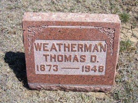 WEATHERMAN, THOMAS D - Logan County, Kansas | THOMAS D WEATHERMAN - Kansas Gravestone Photos