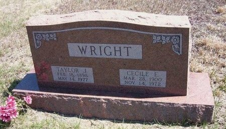 WRIGHT, CECILE E - Logan County, Kansas | CECILE E WRIGHT - Kansas Gravestone Photos