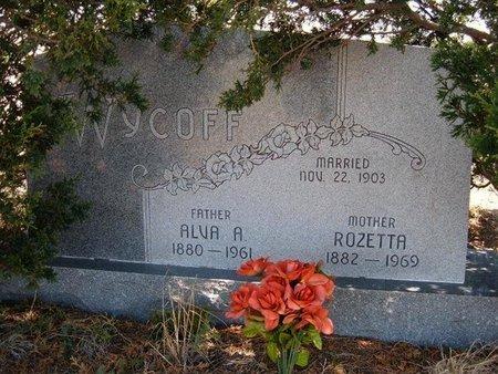 WYCOFF, ROZETTA - Logan County, Kansas | ROZETTA WYCOFF - Kansas Gravestone Photos