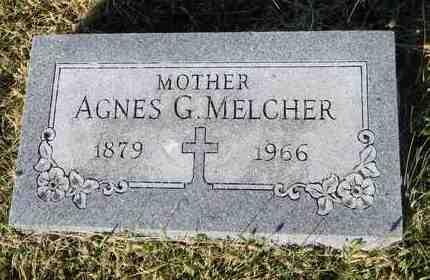 MELCHER, AGNES G - Marshall County, Kansas | AGNES G MELCHER - Kansas Gravestone Photos