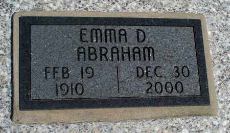 ABRAHAM, EMMA D. - Montgomery County, Kansas | EMMA D. ABRAHAM - Kansas Gravestone Photos