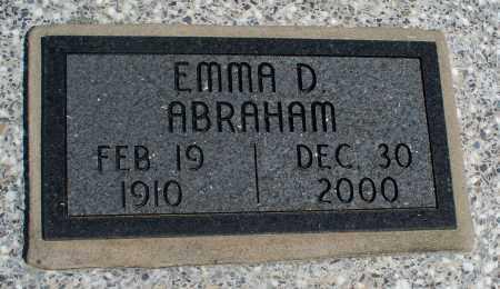 ABRAHAM, EMMA D - Montgomery County, Kansas   EMMA D ABRAHAM - Kansas Gravestone Photos