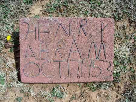 ABRAM, HENRY - Montgomery County, Kansas | HENRY ABRAM - Kansas Gravestone Photos