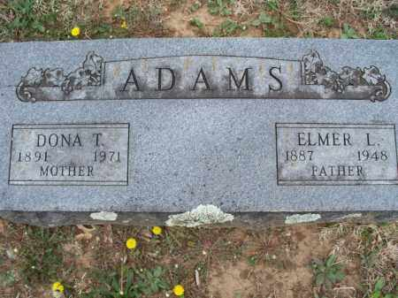 ADAMS, ELMER L. - Montgomery County, Kansas | ELMER L. ADAMS - Kansas Gravestone Photos