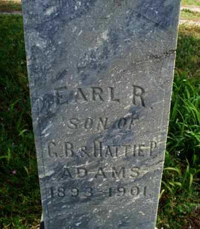 ADAMS, EARL R. - Montgomery County, Kansas | EARL R. ADAMS - Kansas Gravestone Photos