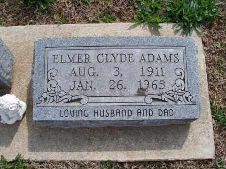 ADAMS, ELMER CLYDE - Montgomery County, Kansas | ELMER CLYDE ADAMS - Kansas Gravestone Photos