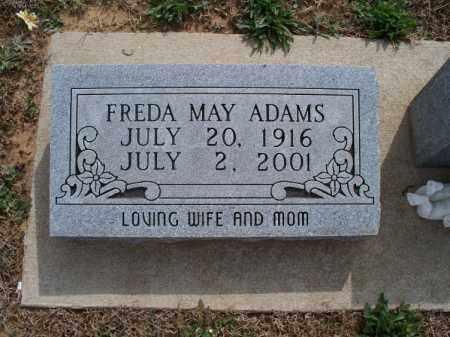 ADAMS, FREDA MAY - Montgomery County, Kansas | FREDA MAY ADAMS - Kansas Gravestone Photos