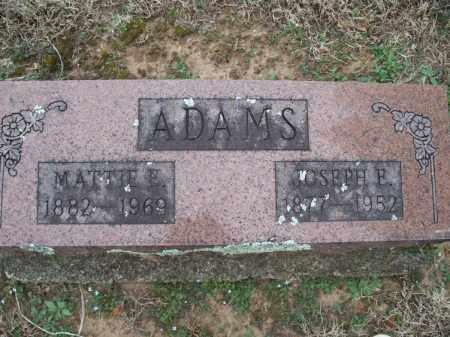 ADAMS, JOSEPH E. - Montgomery County, Kansas | JOSEPH E. ADAMS - Kansas Gravestone Photos